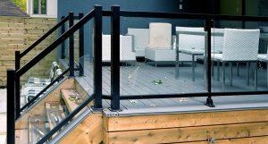 Exterior Aluminium Black Railing