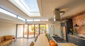 Patio, Kitchen, Folding Aluminium Doors Light Aluminium Roofing