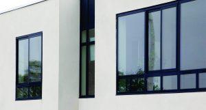 Large windows black sliding aluminum windows