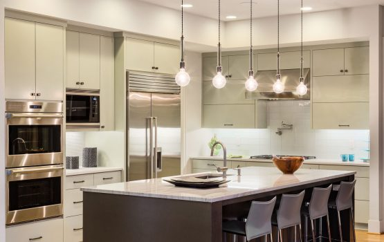 An image of electrical kitchen lights.