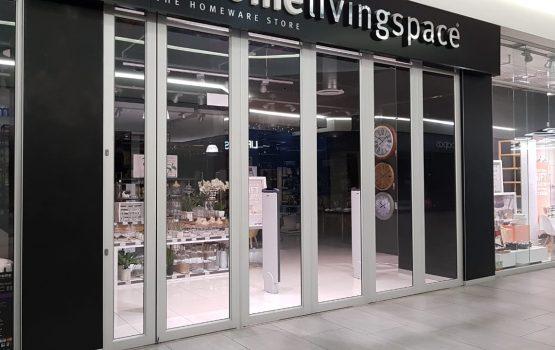 Outcome of aluminum door framing for a shopfront.