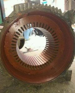 A close up photo of an electric motor.